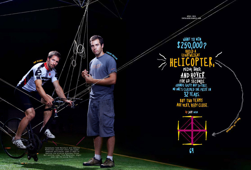 Popular Mechanics —<br>Human Powered Helicopter