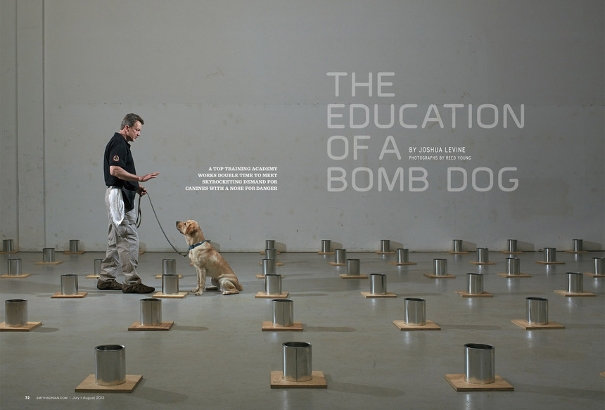 Smithsonian Magazine —<br>Bomb Dog Training School